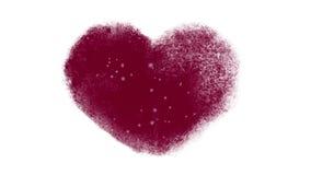 斯诺伊结冰的心脏窗口 影视素材
