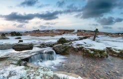 斯诺伊Dartmoor 免版税库存照片
