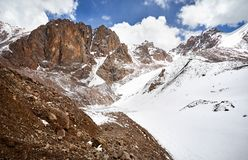 斯诺伊Mountain湖 免版税图库摄影