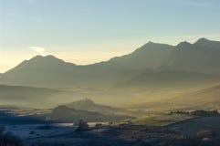 斯诺登山马掌在冬天 库存图片