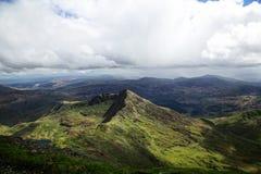 斯诺登山Moutain范围 免版税库存图片