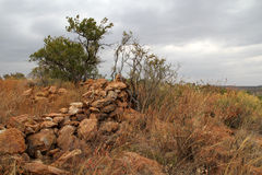 斯通沃尔定居点废墟  免版税库存图片