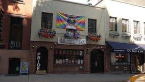 斯通沃尔旅馆同性恋酒吧天外部建立的射击  股票录像