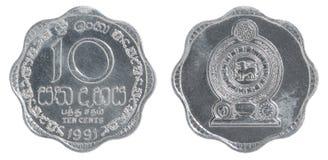 斯里兰卡分硬币 库存照片