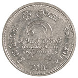 2斯里兰卡卢比硬币 免版税库存图片