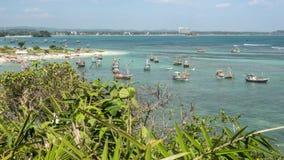 斯里兰卡海湾移动的小船Timelapse 4k 股票录像