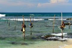 斯里兰卡渔夫 免版税图库摄影