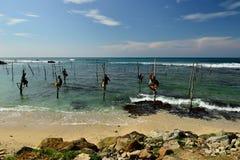 斯里兰卡渔夫 库存照片