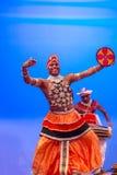 斯里兰卡的传统舞蹈表现展示 免版税库存图片