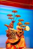斯里兰卡的传统舞蹈表现展示 图库摄影