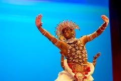 斯里兰卡的传统舞蹈表现展示 库存照片
