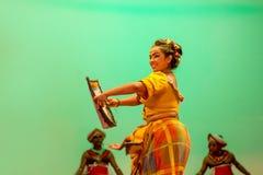 斯里兰卡的传统舞蹈表现展示 免版税库存照片