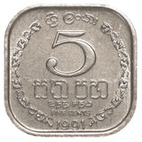 5斯里兰卡的卢比分硬币 免版税图库摄影