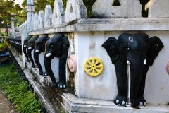 斯里兰卡的大象寺庙 免版税库存图片