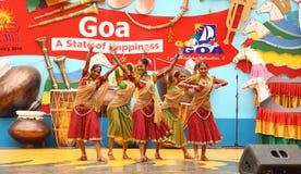 斯里兰卡的女性民间舞蹈 免版税图库摄影