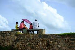 斯里兰卡的家庭 免版税库存照片