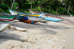 斯里兰卡的小船 免版税库存图片