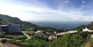 斯里兰卡的山的村庄 库存照片