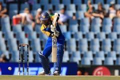 斯里兰卡的板球运动员蒂拉卡拉特内Dilshan 免版税库存照片