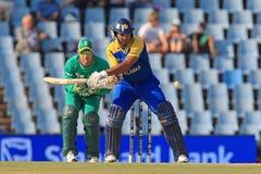 斯里兰卡的板球运动员Kumar Sangakkara 免版税图库摄影