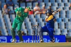 斯里兰卡的板球运动员Kumar Sangakkara 免版税库存图片