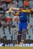 斯里兰卡的板球运动员Mahela贾亚瓦德纳 免版税库存照片