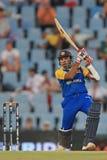 斯里兰卡的板球运动员Mahela贾亚瓦德纳 库存图片