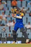 斯里兰卡的板球运动员Mahela贾亚瓦德纳 图库摄影