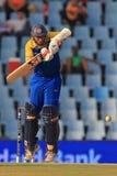 斯里兰卡的板球运动员Thilan萨马拉维拉 免版税图库摄影