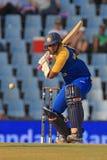 斯里兰卡的板球运动员Thilan萨马拉维拉 免版税库存图片