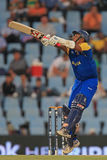 斯里兰卡的板球运动员Thilan萨马拉维拉 免版税库存照片