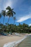 斯里兰卡的渔船 免版税库存照片