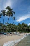 斯里兰卡的渔船 免版税库存图片
