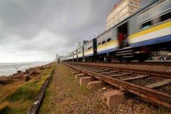 斯里兰卡的火车,科伦坡 免版税库存照片