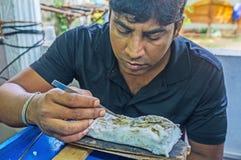 斯里兰卡的珠宝商 库存图片