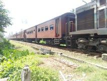 斯里兰卡的秀丽的火车旅行照片 免版税图库摄影