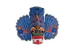 斯里兰卡的蓝色孔雀面具 免版税图库摄影
