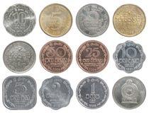 斯里兰卡硬币全套  库存照片