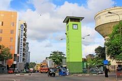 斯里兰卡科伦坡历史尖沙咀钟楼 库存照片