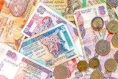 斯里兰卡金钱卢比、钞票和硬币 库存图片