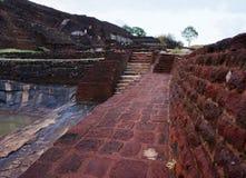 斯里兰卡锡吉里耶狮子岩石 免版税库存图片