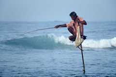 斯里兰卡,南海岸- 1月05日;2011年:传统斯里兰卡 免版税库存照片