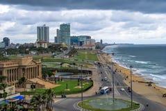 斯里兰卡-科伦坡的首都的鸟瞰图 免版税库存照片