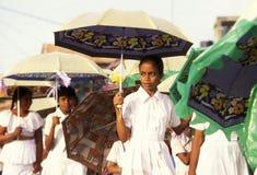斯里兰卡HIKKADUWA学校CHILDERN 图库摄影