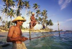 斯里兰卡WELIGAMA渔夫 库存照片