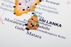 斯里南卡的映射 免版税库存图片
