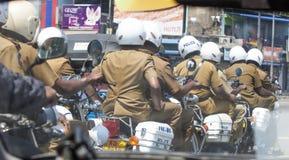 斯里南卡警察 免版税库存照片