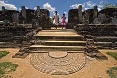斯里南卡 老市Polonnaruwa 库存图片