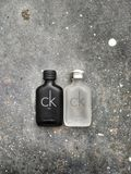 斯里巴加湾/文莱达鲁萨兰- 2019年5月19日:CK是,并且CK一香水由卡文・克莱Perfume Company做了 免版税库存照片