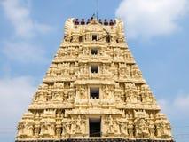 斯里Kachabeswarar寺庙看法在甘吉布勒姆,印度 库存照片